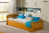 PATRYK łóżko 2 osobowe sosnowe bez materacy