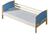 TRIO łóżko 1 osobowe sosnowe bez szuflad i bez materaca