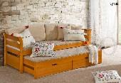 TYTUS łóżko 2 osobowe sosnowe bez materacy