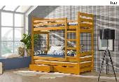 FILIP łóżko piętrowe sosnowe - 3 osobowe bez materacy
