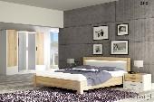 OSLO meble pokojowe sypialnia zestaw 1 biały / sonoma