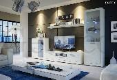 MATRIX #1 niebieski LED meble pokojowe biały