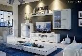 MATRIX PLUS #2 niebieski LED meble pokojowe biały