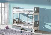 KEVIN łóżko piętrowe sosnowe bez materacy