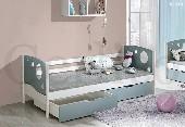 KEVIN łóżko 1 osobowe sosnowe bez materaca