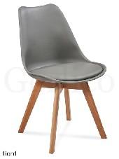 FIORD krzesło z tworzywa sztucznego szary / buk